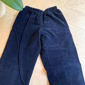 Papo d'Anjo size 6 lined navy corduroys